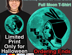 Glow In The Dark Hurons Full Moon Hoodie